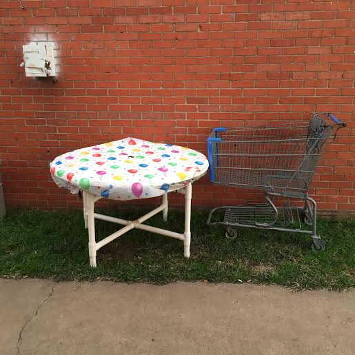 Cart and Birthday Table